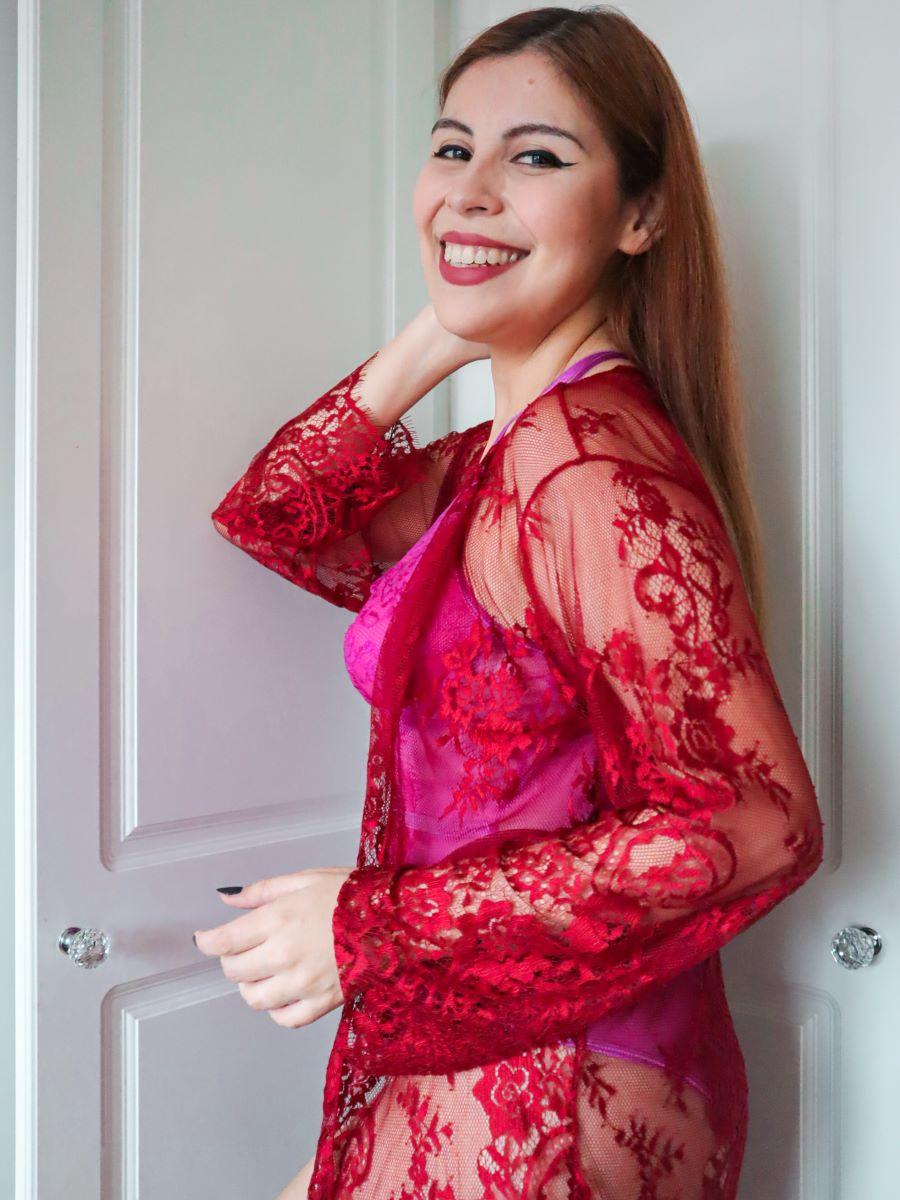style by deb wearing lingerie dresslily amazon