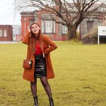 PATENT LEATHER SKIRT & BOOTS