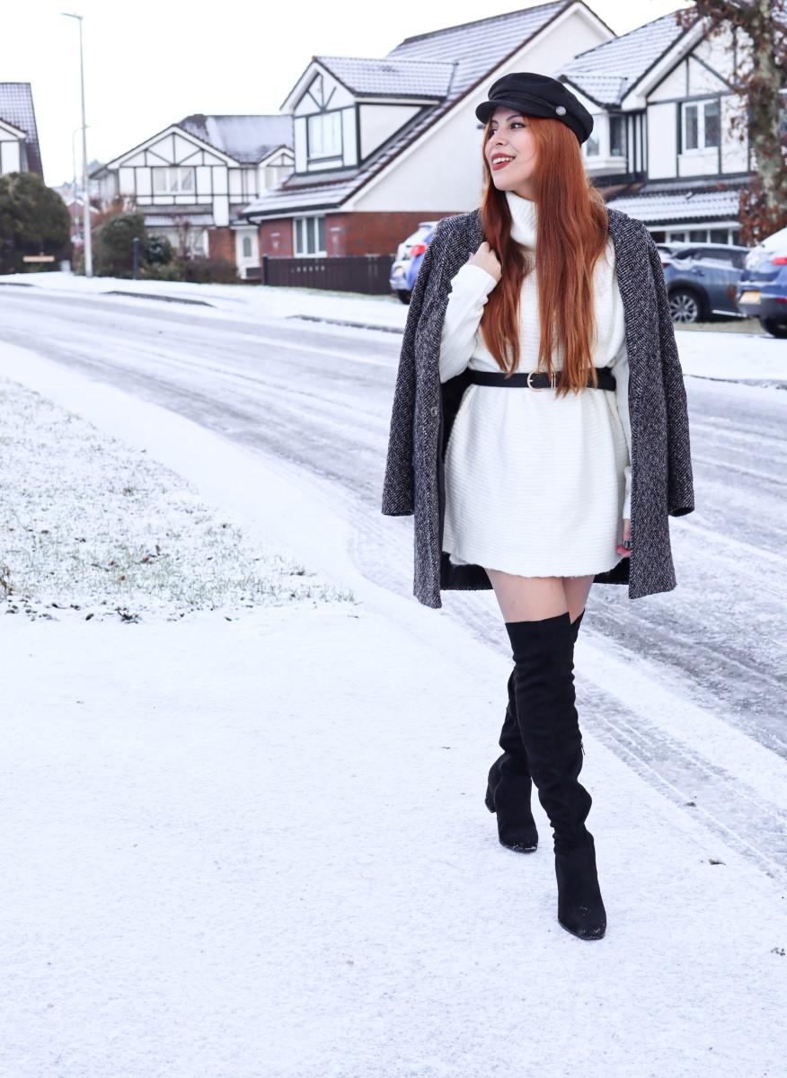 primark coat boohoo boots miss selfridge style by deb