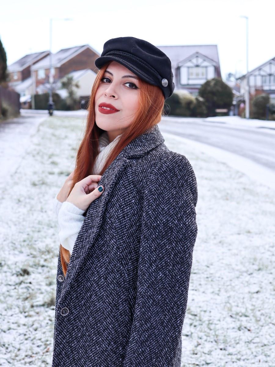 sailor's hat snow primark coat deborah ferrero
