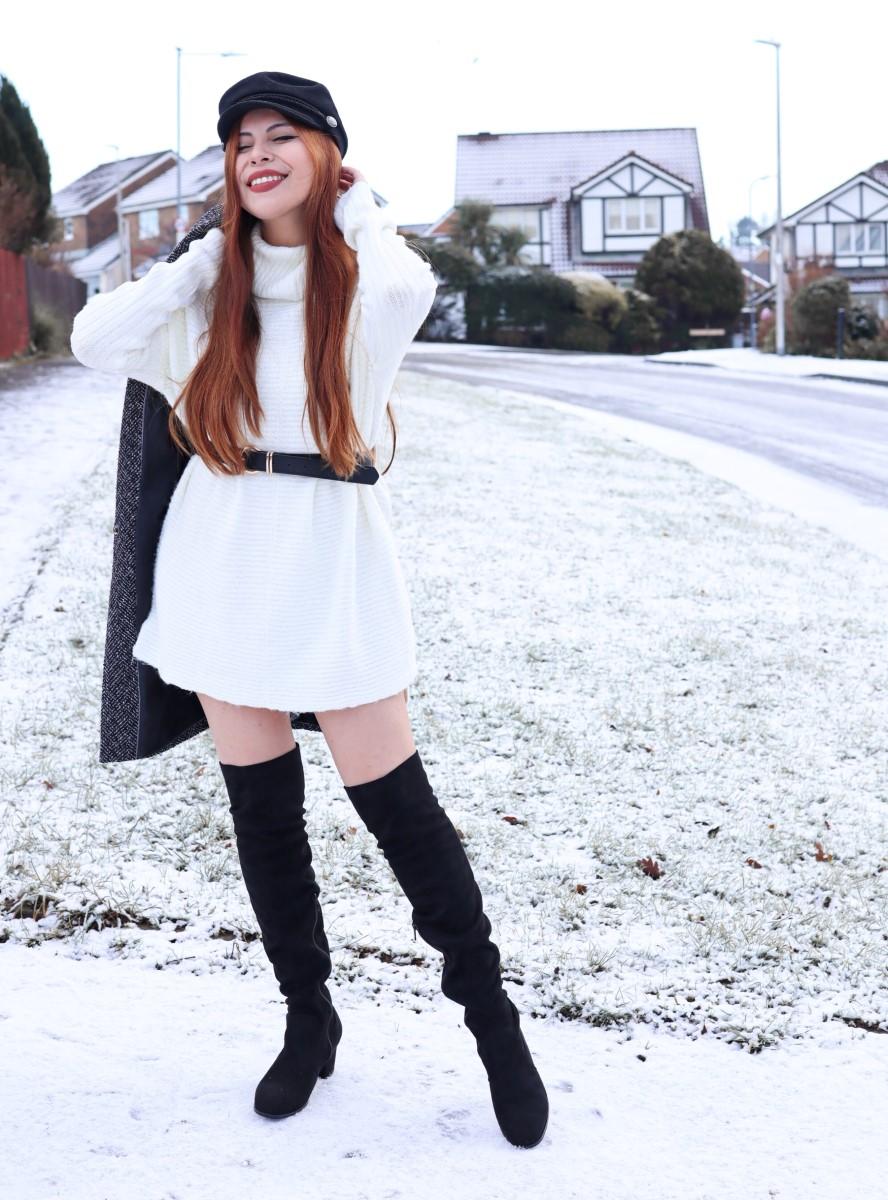 white sweater dress miss selfridge