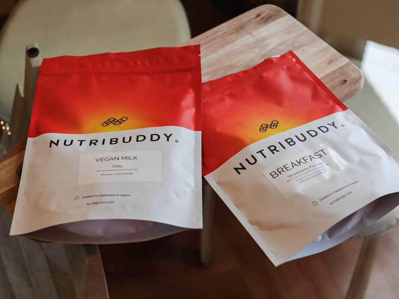 nutribuddy 14 day supply breakfast shake and vegan milk