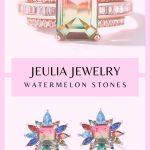 JEULIA JEWELRY WATERMELON STONES