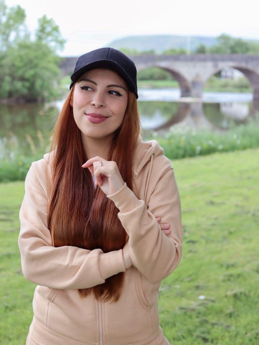 peach femmeluxe hoodie