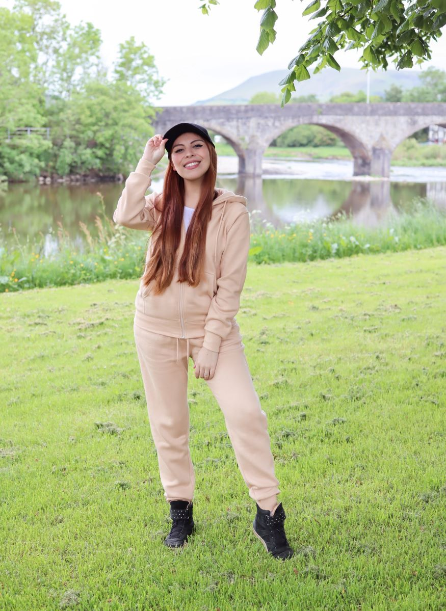 femmeluxe tracksuit hoodie and trousers set