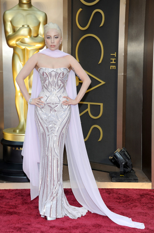 HOLLYWOOD, CA - MARCH 02:  Singer Lady Gaga attends the Oscars held at Hollywood & Highland Center on March 2, 2014 in Hollywood, California.  (Photo by Kevin Mazur/WireImage)